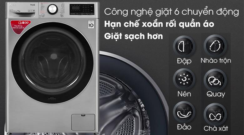Máy giặt LG Inverter 9 kg (FV1409S2V) giá rẻ