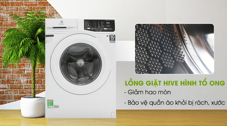 Máy giặt Electrolux 8kg (EWF8025EQWA) Lồng Ngang